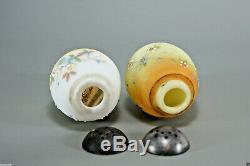 Mt. Washington Shakers withOriginal Rare Glass Holder 1 Unfired Burmese 1 Opal