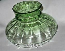 Nailsea Victorian Blue Art Glass Miniature Oil Lamp Upturned Shade V Rare & MINT
