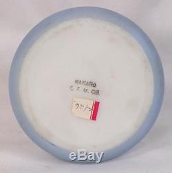 Nakara Wave Crest Trinket Box Cherubs Flowers Glass C F M Co Antique As Is