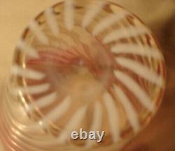 Northwood Rubina Swirl Art Glass Tumbler