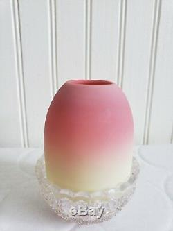 ORIGINAL Circa 1886 VICTORIAN ART GLASS THOMAS WEBB BURMESE CLARKE FAIRY LAMP
