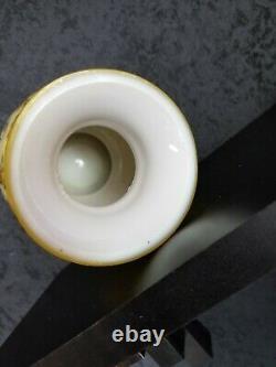 OUTSTANDING! Harrach Bohemian Czech enamel vase
