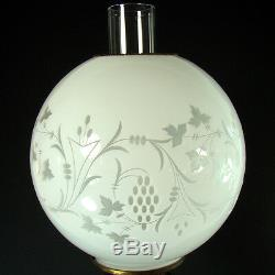 Ornate Victorian Banquet Lamp with Cased Art Glass Shade -1880's, 100% original