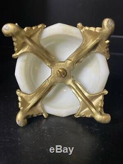 RARE Antique Wavecrest Cherub Playing Cymbals Sea Urchin Paperweight Wave Crest