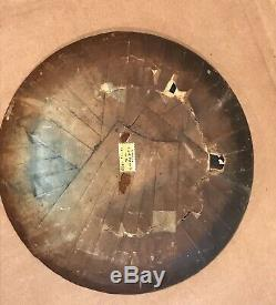 RARE c1857 ANTIQUE CIGAR BAND Filled Folk Art Plate Tray Victorian Primitive