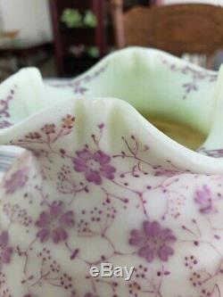 Rare Early Loetz Victorian Art Glass Enameled Vase Persian Style