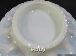 Rare Fenton Glass Amethyst Milk Glass Chicken Hen Server Dish Egg Plate