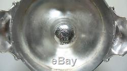 Rare Huge Victorian Pickle Castor, Aqua Glass Insert, Meriden Silver Plate Stand