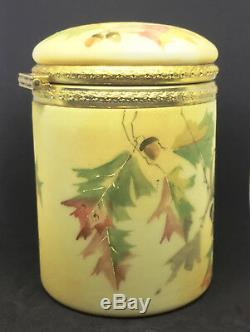 Rare Mt Washington Crown Milano CIGAR HUMIDOR Oak Leave & Acorn Decor
