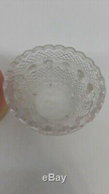 S Clarke Pyramid Fairy Lamp Webb Burmese Glass Shade Candle Antique
