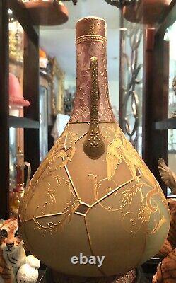 SPECTACULAR RARE Mt Washington Royal Flemish Large Vase