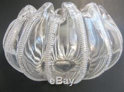 STEVENS & WILLIAMS Victorian Art Glass JEWELED Crystal BIG 7.5 Rose Bowl Vase