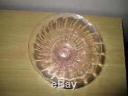 Salviati Barovier Toso Venetian Glass Grape Stem Vase Gold Pink Murano Dish Bowl