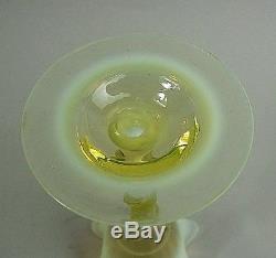 Scarce Victorian Webb Vaseline Uranium Art Glass Vase C. 1890