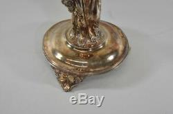 Silver Victorian Floral Art Glass Insert Female Figural Epergne
