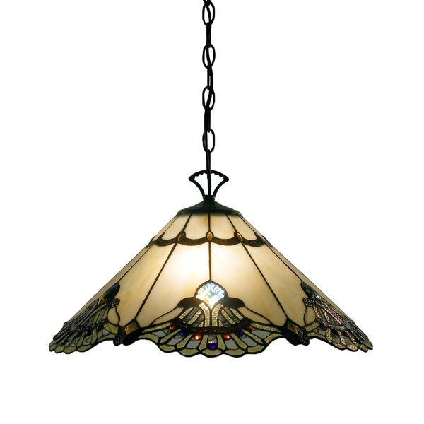 Stained Glass Ceiling Victorian Art Deco Lamp Light Fixture Mission Craftsman