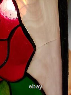 Stained Glass Window Panel 36 5/8 X 8 3/8 Handcrafted