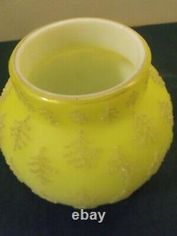 Steven Williams Satin Uranium CORALINE Vaseline Antique Cabinet Vase Cased