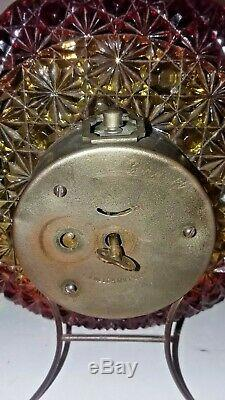 Super Rare Hobbs Brockunier Eapg Amberina Daisy Button Clock Plate