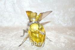 TS Victorian Mappin and Webb Vaseline Sheffield Silver Plate Bee Honey Pot