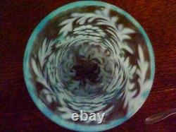 VINTAGE FENTON / WRIGHT Daisy & Fern PITCHER & TUMBLER SET Blue OPALESCENT GLASS