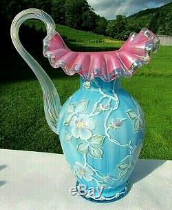 Very Rare FENTON 1995 Connoisseur Collection Victorian Art Glass Pitcher 2796ZM