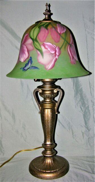 Very Rare Fenton Rubina Verde Lamp Circa 1981 #254 Of 650 Signed