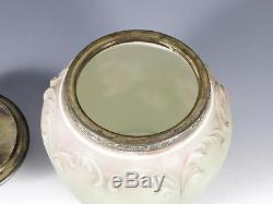 Victorian C. F. Monroe Wave Crest Glass Tobacco Jar / Humidor