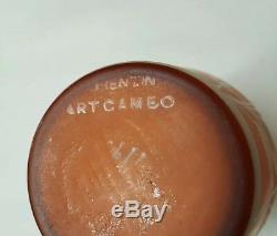 Victorian Cameo Art Glass Vase Thomas Webb 7 ArtCameo Florentine Burnt Orange