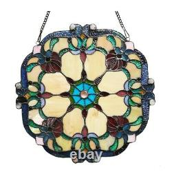 Victorian Design Stained Glass Window Panel Tiffany Style Home Decor