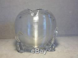 Victorian Stevens & Williams Clear Threaded Cut & Footed Rose Bowl
