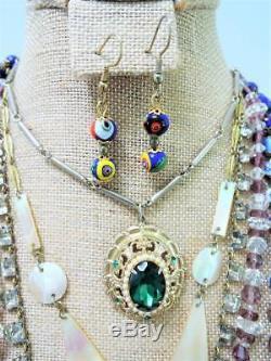 Victorianedwardianglassart Deco Gorgeous Vintage Jewelry Lot