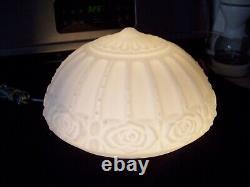 Vintage Art Deco / Victorian Milk Glass Ceiling Light Shade Globe