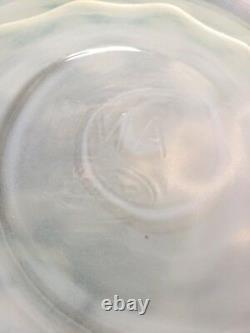 Vintage MMA Fenton Art Glass Opalescent Coin Dot Iced Tea Pitcher