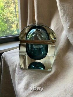 Vintage Murano Art Glass Sommerso Trinket Box Vanity Casket Trunk Seguso