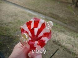 Vtg Antique Rare Salviati Vase Venetian Ribbon Art Glass Murano Victorian