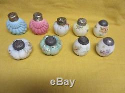 Wholesale Lot of 9 Victorian Salt Shakers ca 1880-1900, Mt Washington, etc